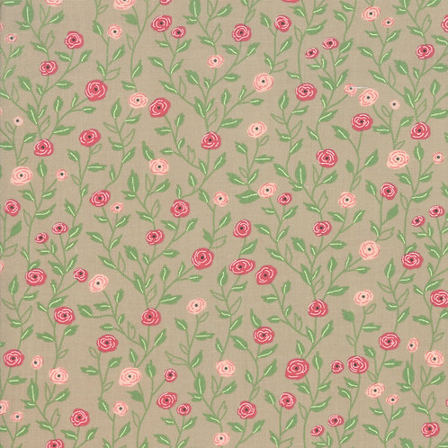 Bloomington Taupe Pocket Full Of Posies by Lella Boutique for Moda F
