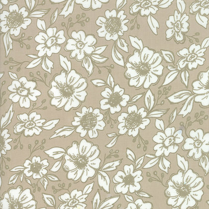 Bloomington Taupe Flower Shop By Lella Boutique for Moda Fabric
