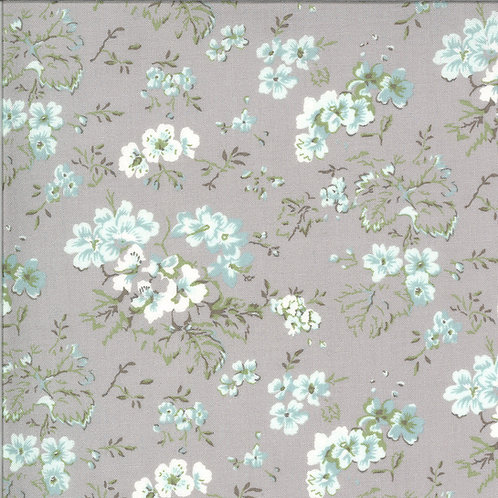 Dover Field Floral Grey By Brenda Riddle Designs for Moda Fabric
