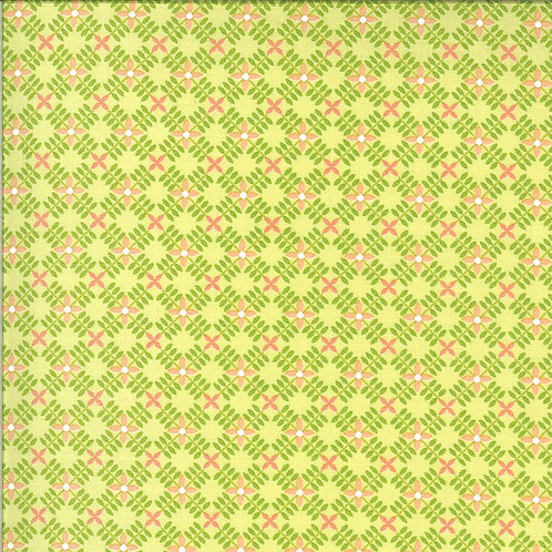 Apricot & Ash Light Lime  By Corey Yoder for Moda Fabrics
