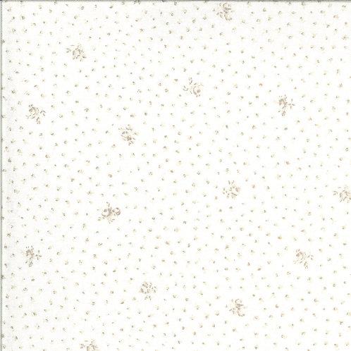 Dover Little Floral Linen White By Brenda Riddle Designs for Moda Fabrics