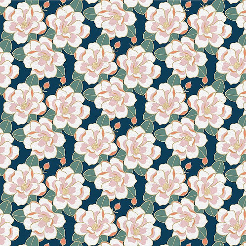 Magnolia Wonderland Magnolia Teal Green By Teresa Chang for Paintbrush Stu
