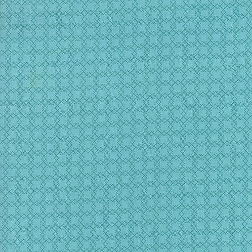 Bloomington Teal Mini Latice By Lella Boutique for Moda Fabric