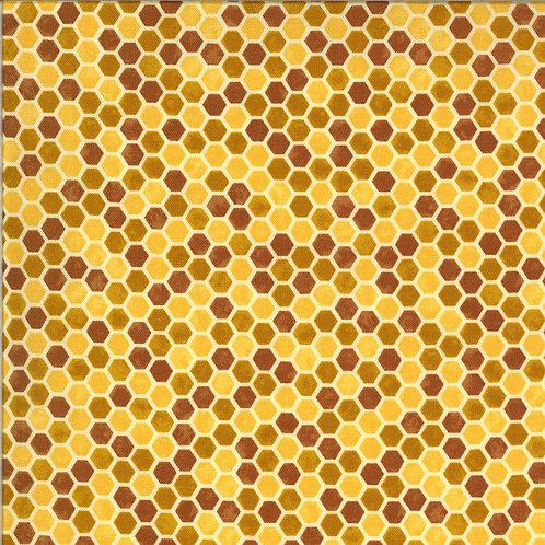 Bee Grateful   Honeycomb Honey Yellow by Deb Strain for Moda Fabrics