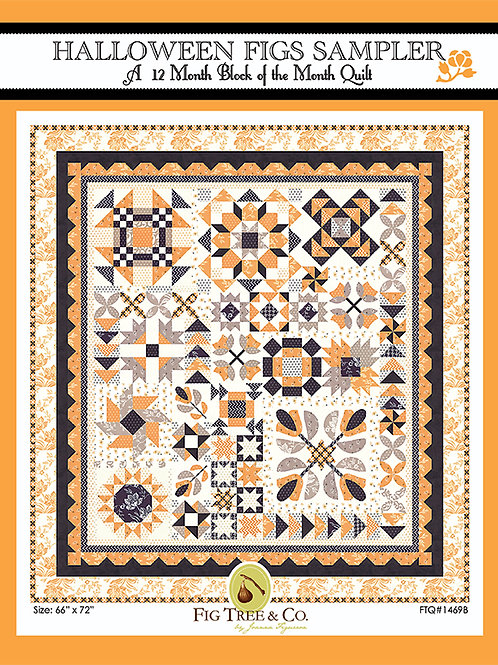 Halloween Pattern Figs Block of the month/12 Mos