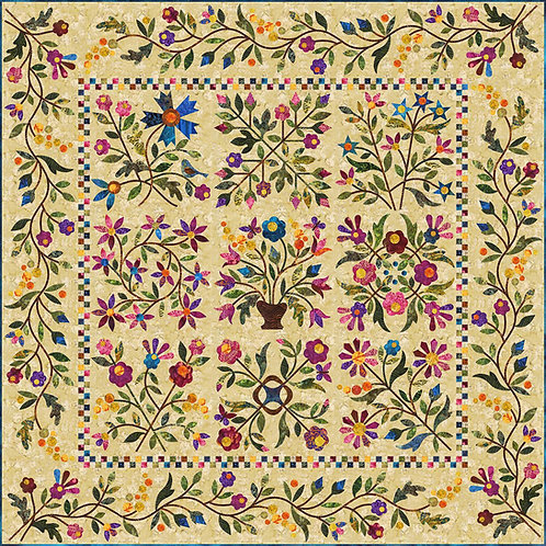 Spring Bouquet Quilt Pattern by Laundry Basquet