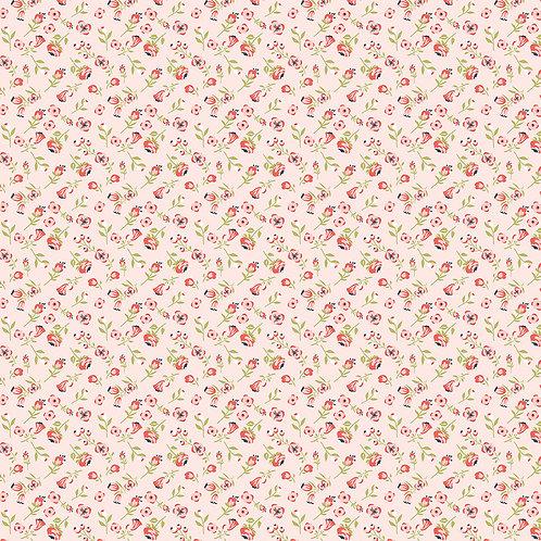 Daisy Mae - Mini Mae Pink by Lori Woods For Poppie Cotton Fabrics