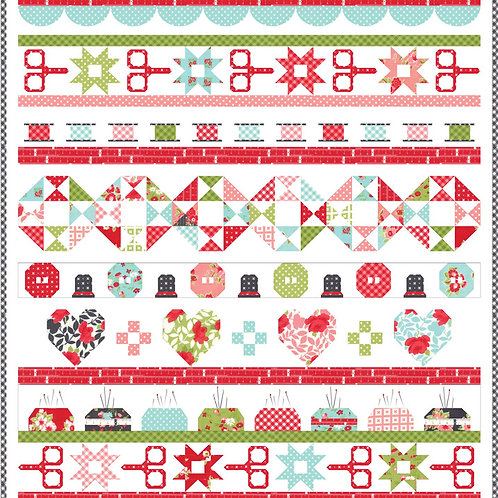 Quilt Day Quilt Kit featuring Little Snippets collection by Bonnie and Camilles
