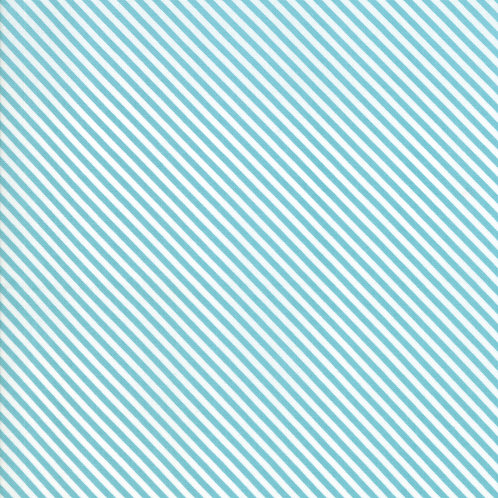 Bloomington Teal Candy Stripes By Lella Boutique for Moda Fabric