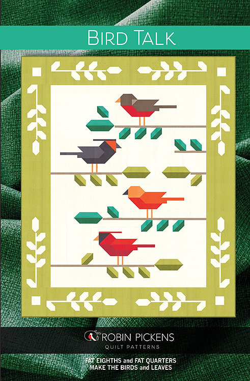 Birds Talk two sizes Quilt Patterns  Robin Pickens