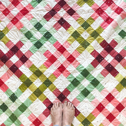 Moroccan Getaway Christmas Quilt Kit Featuring Ombre Fairy Dust By V and Co