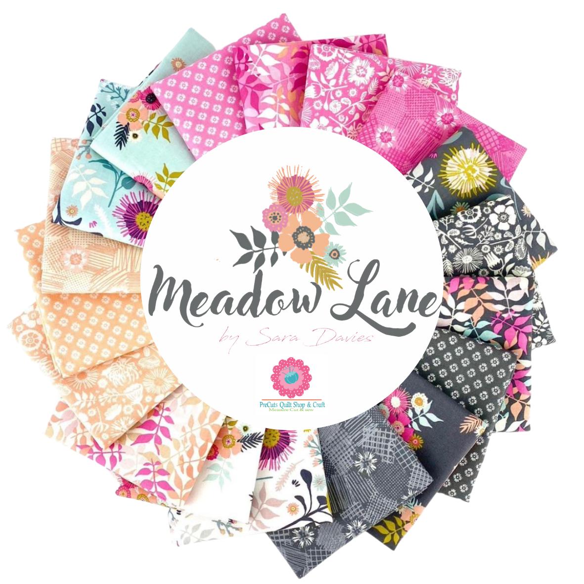 by Sara Davies for Riley Blake Designs - FQ-10120-18 Fat Quarter Bundle 18 Fabrics Meadow Lane