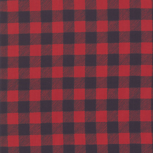 Homegrown Holiday Buffalo Plaid Red and black By Deb Strain for Moda Fabrics
