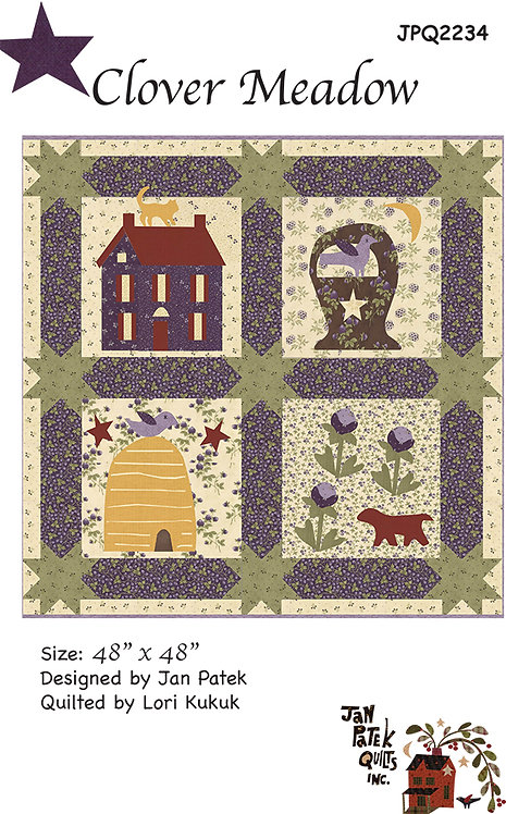 Clover Meadow Quilt Pattern Featuring Clover Meadow Collection By Jan Pat