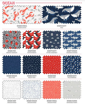 Acadia |Ocean Collection Fat Quarter by Betsy Siber