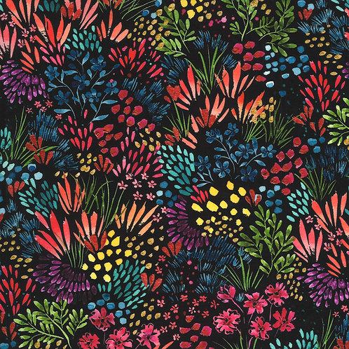 Moody Bloom Digital | Meadow Black By Create Joy Project For Moda Fabrics