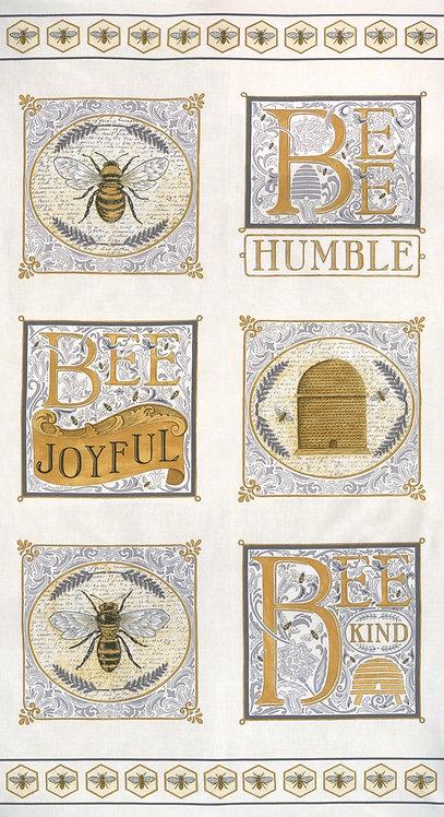 "Bee Joyful 24"" x 44"" Laurel White by Deb Strain for Moda Fabrics"