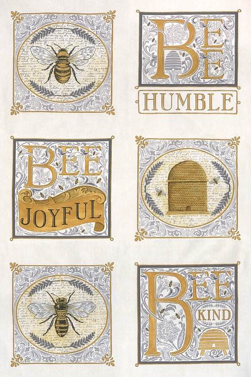 "Bee Joyful 24"" x 44"" Laurel White"