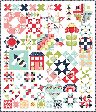Shine On Block Of the Month By Bonnie and Camille