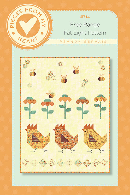 Free Range Quilt Pattern by Pieces From Heart