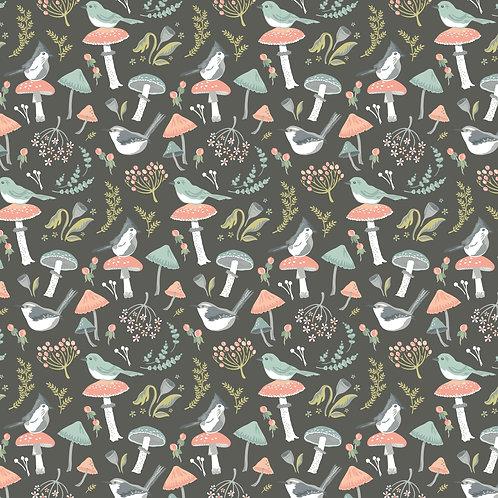 Woodland SongbirdsDark Grey Woodland Songbird by Sheri McCulley For Poppie Cotto