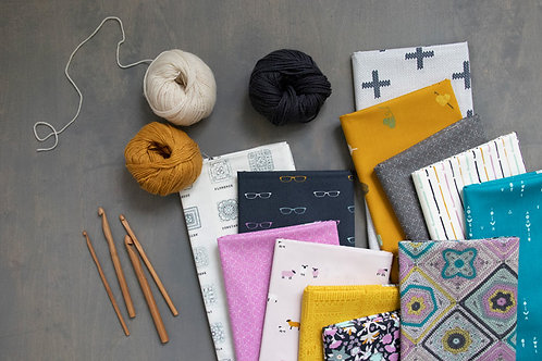 Hooked Fat Quarter Bundle by Mister Domestic for Art Gallery Fabrics