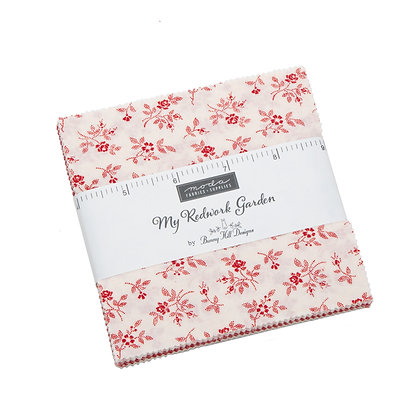 My Redwork Garden Charm Pack  by Bunny Hill Designs