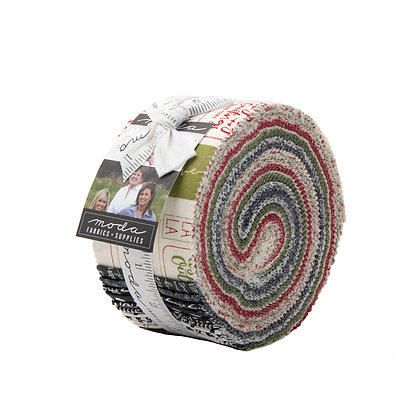 The Christmas Card Jelly Roll By Sweetwater for Moda Fabrics