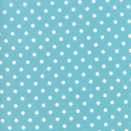 Bloomington Teal Parisian Dot By Lella Boutique for Moda Fabric