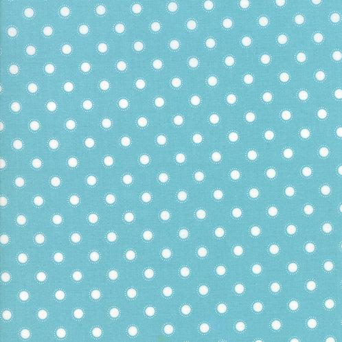 Bloomington Teal Parisian Dot By Lella Boutique for Moda Fabric
