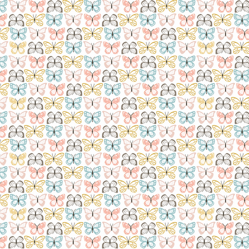 Flutter White from Wandering collection by Lori Woods