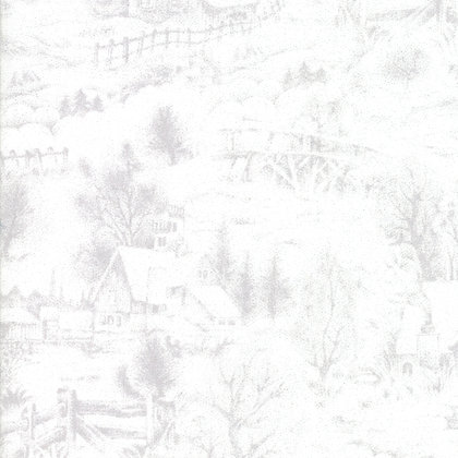 Forest Frost Glitter Fav Snow By Moda Fabrics