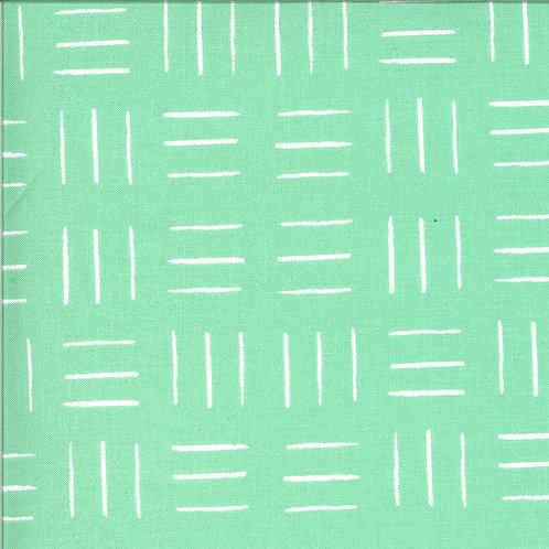 Zoology | Aqua Opposing Lines by Gingiber For Moda Fabrics