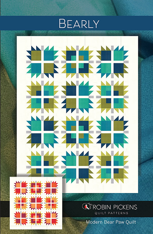 Bearly two sizes Quilt Patterns  Robin Pickens