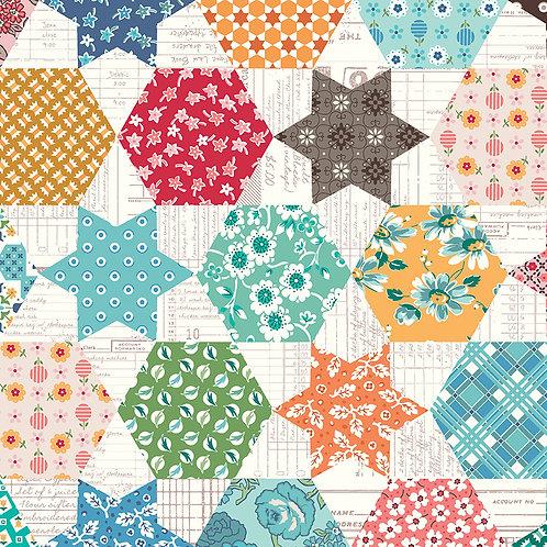 Flea Market   Cheater Print Multi by Lori Holt for Riley Blake Designs