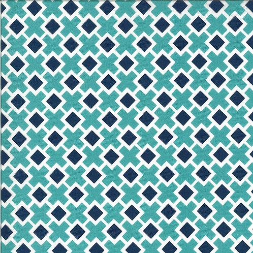 Homestead Fancy Tile Sky By April Rosenthal For Moda Fabrics