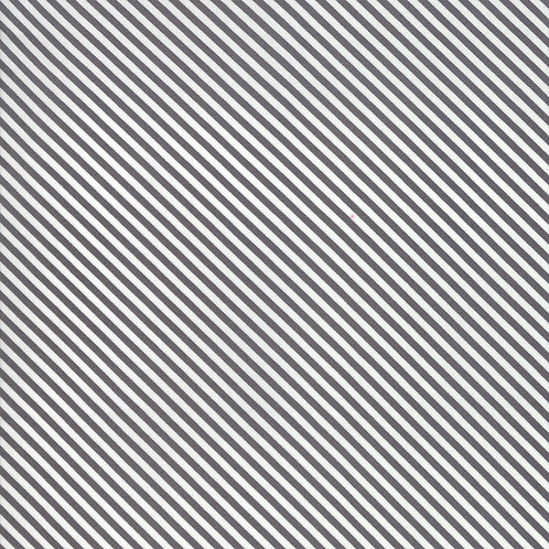 Bloomington Charcoal Candy Stripes By Lella Boutique for Moda Fabric