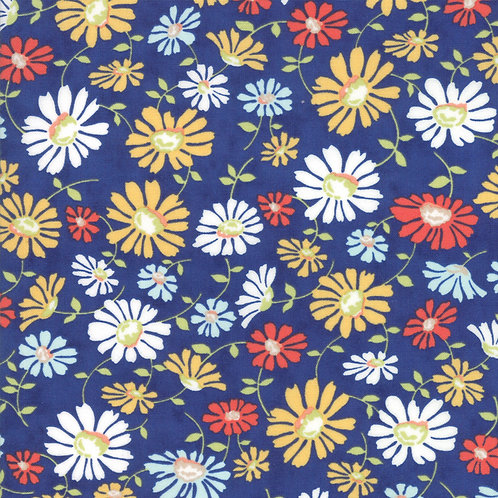 Catalina Daisy Sapphire Yardage By Fig Tree Quilts
