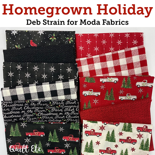 Homegrown  Holidays Half Yard Bundles by Deb Strain for  Moda Fabrics