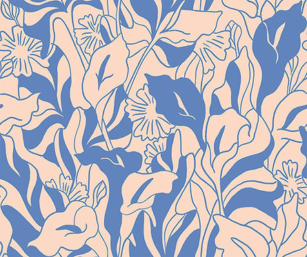 Lisbon Love | Callalily Blue by Kasey Free From Paint Brush Fabrics