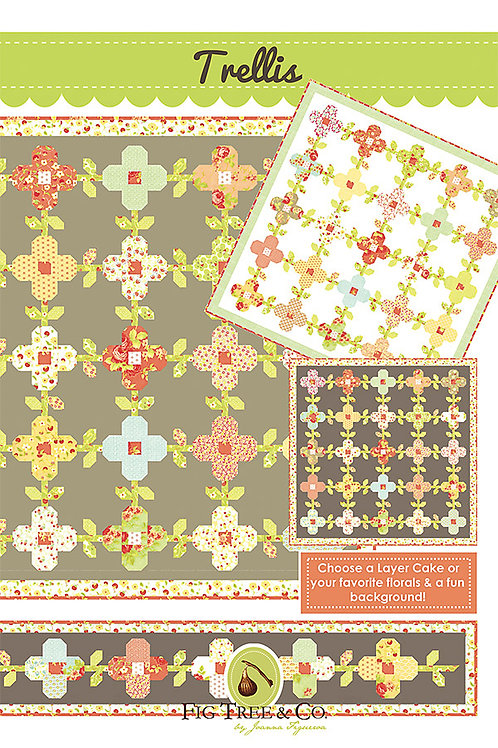 Trellis Quilt Pattern By Fig Tree