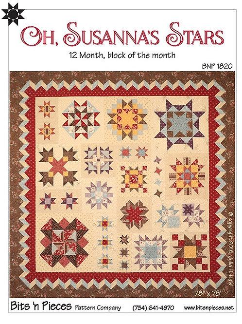 Oh, Susanna's Stars Quilt Pattern Bits 'n Pieces