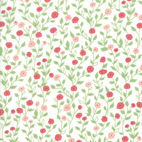 Bloomington Eggshell Pocket Full Of Posies by Lella Boutique for Moda F