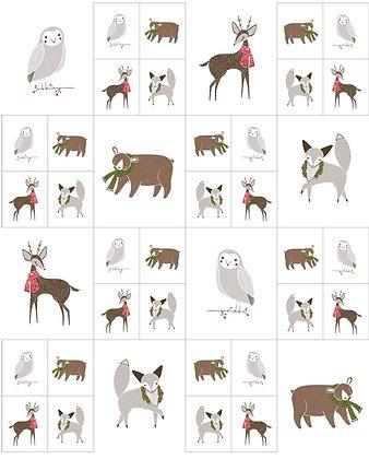 Merriment Multi Critters Galore Quilt Panel