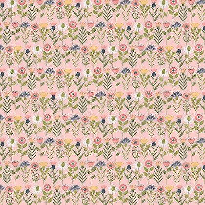 Daisy Mae - Fresh Cut Pink by Lori Woods For Poppie Cotton Fabrics