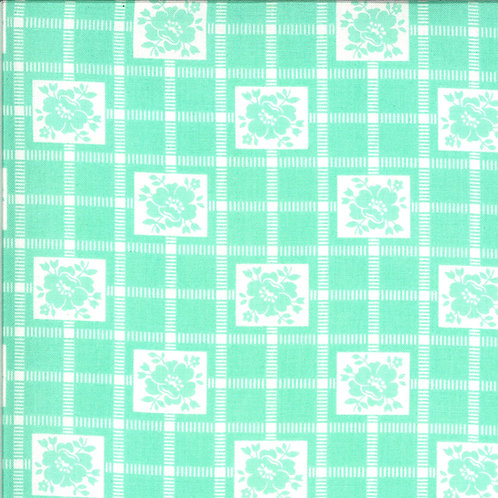 Shine On  Check Aqua by Bonnie and Camille for Moda Fabrics