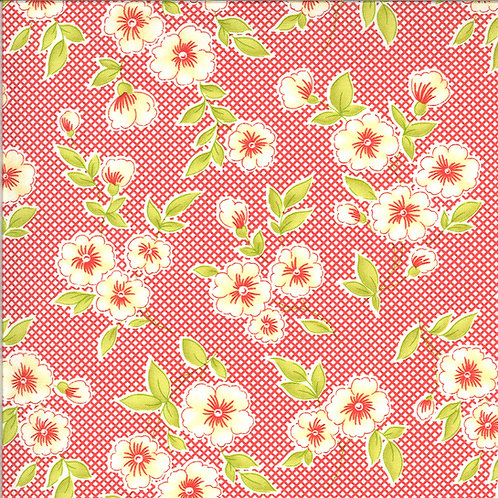 Figs and Shirting | Pinafore Barn Red by Fig Tree Quilts for Moda Fabrics
