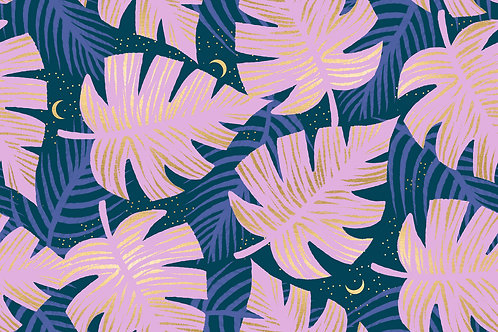 Florida | Shade Palms Peacock by Sarah Watts for Ruby Star Society from Moda