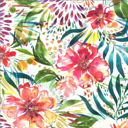 Moody Bloom Digital   Wilderbloom White By Create Joy Project For Moda Fabrics