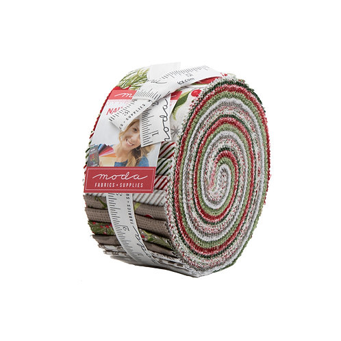 Naughty or Nice Jelly Roll by BasicGrey for Moda Fabrics